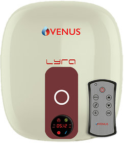 VENUS DIGITAL 10RD 10 LTR ELECTRIC WATER HEATER ( IVORY/WINERED )