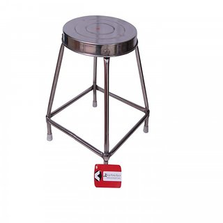 Kkriya Home Decor stainless steel stool with double rebbiting