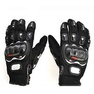 Winter Protection Pro Biker Gloves - Black ( Set of 1 )