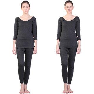 Vimal Winter Cover Black Upper & Bottom Set For Women(Pack Of 2)