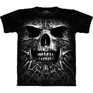 Black Cotton T-shirt For Mens