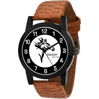 Danzen Quartz Analog Black & White Round Dial Men's Watch DZ-479