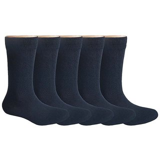 Pack of 5 School Socks for 13-14 Years Old - Black