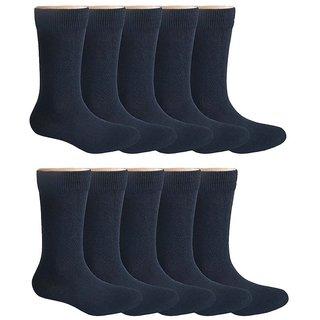Pack of 10 School Socks for 11-12 Years Old - Black