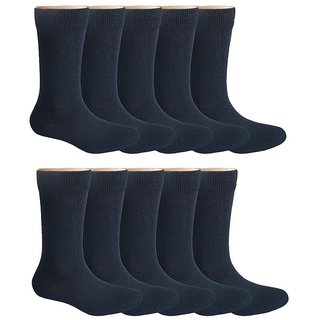 Pack of 10 School Socks for 15 Years Old and above - Black
