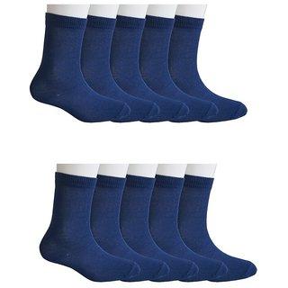 Pack of 10 School Socks for 7-8 Years Old - Navy