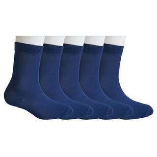 Pack of 5 School Socks for 9-10 Years Old - Navy