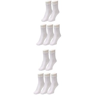 Pack of 10 School Socks for 9-10 Years Old - White