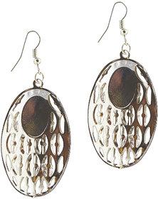 The99Jewel by JewelMaze Austrian Stone Rhodium Plated Dangle Earrings-FAC0120