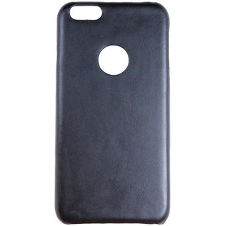 100 Microns Protective Leather Mobile Cover for I Phone 6   in Black colour