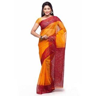 Jainam Multi Bandhani Cotton Saree