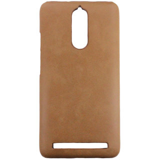 100 Microns Protective Leather Mobile Cover for Lenovo K5 Note  in Tan colour