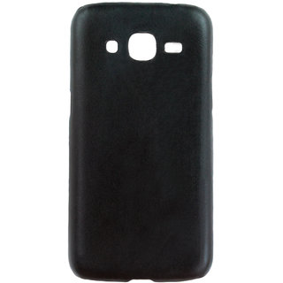 100 Microns Protective Leather Mobile Cover for Samsung J2 2016  in Black colour