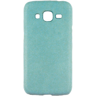 100 Microns Protective Leather Mobile Cover for Samsung J2 2016  in Teal Blue colour
