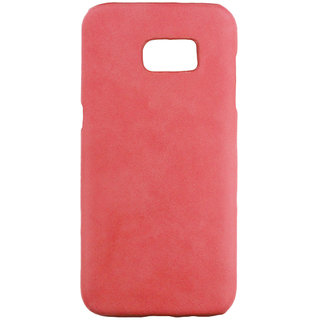 100 Microns Protective Leather Mobile Cover for Samsung S7 Edge  in Strawberry Pink colour