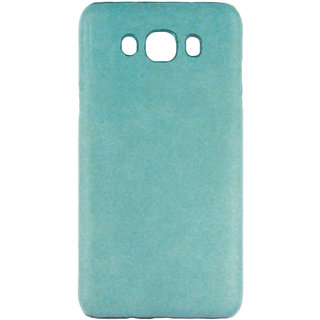 100 Microns Protective Leather Mobile Cover for Samsung J7 2016  in Teal Blue colour