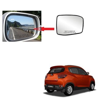 Carsaaz Right + Left Side Sub-Mirror Plate for Mahindra Kuv 100