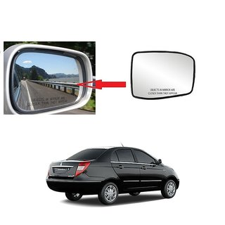 Carsaaz Right + Left Side Sub-Mirror Plate for Tata Manza