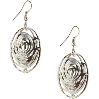 The99Jewel by JewelMaze Zinc Alloy Silver Plated Austrian Stone Dangle Earrings-FAC0258
