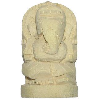 Hand Carved Natural Ark Root Ganesha For Pujan Swetharka Ganesh