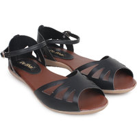 Do Bhai Women's Black Flats - 101412593