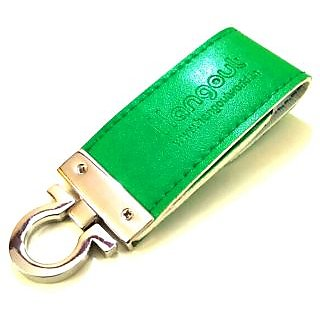 Elite  Durable Hangout Keychain With USB Metal Pen Drive For Cars, Bikes, Bicycles, Back bags, Hand bags etc-HO-KEY-044-Valley Green