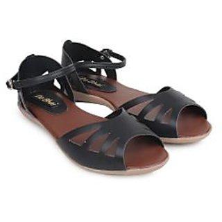 Do Bhai Women's Black Flats - 101414031