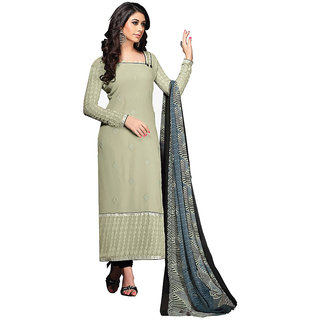 Chigy Whigy Black Printed Georgette Un-Stitched Salwar Suit With Dupatta