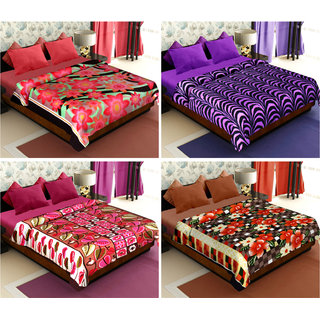Story@Home Beautiful Floral 4 Set Blanket
