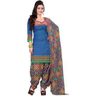 Chigy Whigy Multicolor Printed Crepe Un-Stitched Salwar Suit With Dupatta