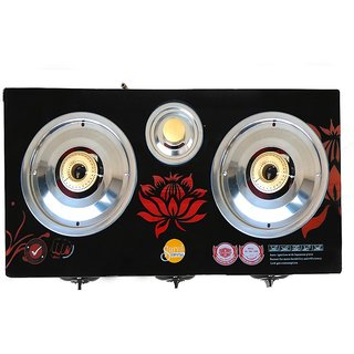 SURYA CRYSTAL AUTOMATIC 3 BURNER GAS COOKTOP