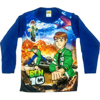 Ben 10 Multicolour Cotton Full Sleeve T-Shirts for kids  3 to 5 years
