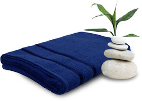 Story @ Home Navy 100% Cotton Bath Towel