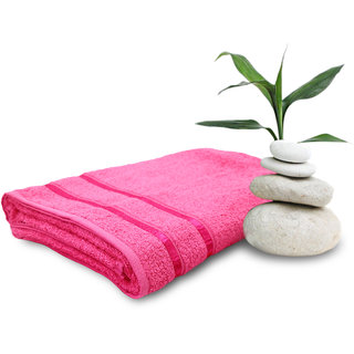 Story @ Home Pink 100% Cotton Ladies Bath Towel