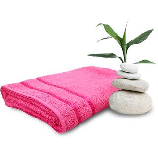 Story@Home Pink 1 Piece 450 GSM 100% Cotton Hand Towel Set (60X120 cms)