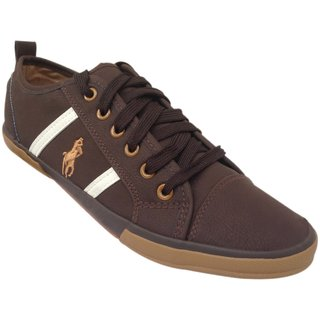 Morocco Men's Brown Lace Up Casual Shoes