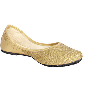 Routeen Women's Gold Jutti