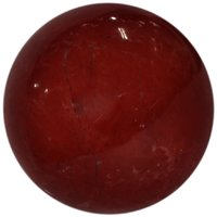 Gomati Ethnic Handicrafts Showpieces Astrology Red Jasper Stone Fengshui Ball 8 Cm