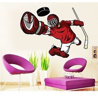 EJA Art Ice Hockey Goalkeeper Covering Area 75 x 60 Cms Multi Color Sticker
