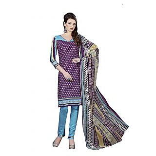 Minu Suits Cotton Unstiched Dress Material New Dark Blue