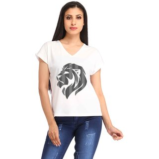 Snoby Side face lion print t-shirt (SBYPT1891)