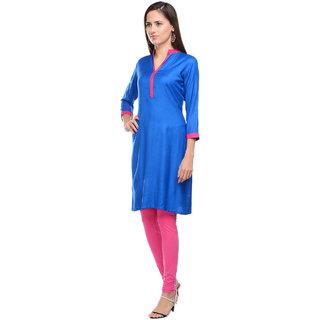 Lingra Blue Rayon Kurti