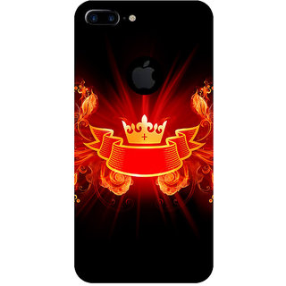 GripIt Crown From Fire Printed Back Cover for Apple iPhone 7 Plus