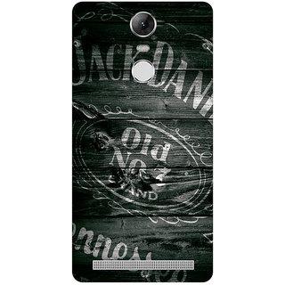 GripIt Jack Daniels Logo on Wood Case for Lenovo K5 Note