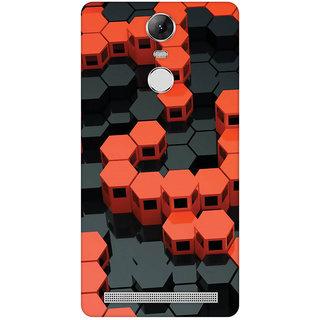 GripIt 3D Red & Black Hexagons Case for Lenovo K5 Note