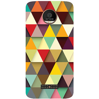 GripIt 3D Triangles Printed Case for Motorola Moto Z