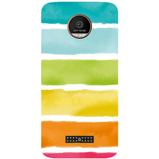 GripIt Watercolor Strips Printed Case for Motorola Moto Z Play