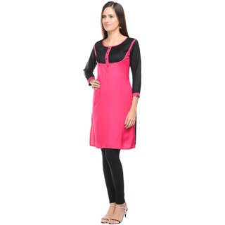 Lingra Pink Rayon Kurti