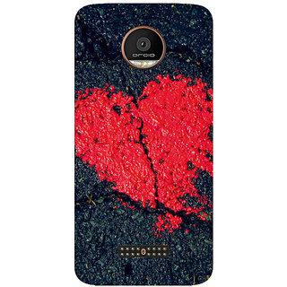 GripIt Heart On Stone Printed Case for Motorola Moto Z