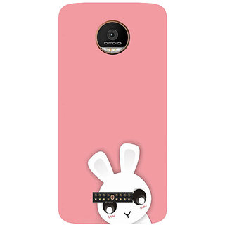 GripIt Cute White Kitty Printed Case for Motorola Moto Z